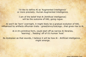 Will AI evolve from HAI – Human Augmented Intelligence (click :here: to read)